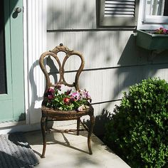 Clever way to upcycle a dilapidated chair