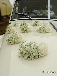 dekoracja samochodu z gipsówki - Szukaj w Google