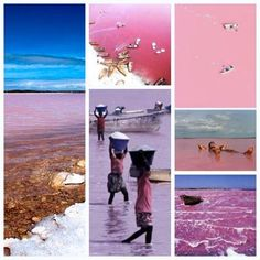 Waitwhat there's a pink lake :O  ~Lake Retba, Senegal or as the French refer to it Lac Rose, is pinker than any milkshake you've ever come face to straw with. Experts say the lake gives off its pink hue due to cyanobacteria, a harmless halophilic bacteria found in the water. Lake Retba also has a high salt content, much like that of the Dead Sea, allowing people to float effortlessly in the massive pink water.Senegal's Lac Rose
