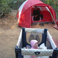 Tips for camping with babies!