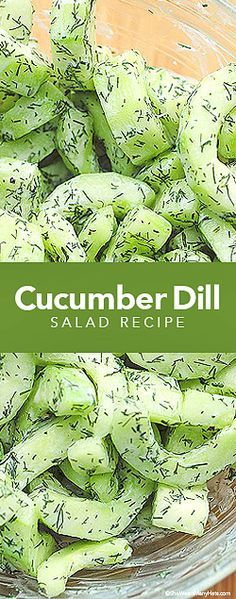 This easy Cucumber Dill Greek Yogurt Salad is light and refreshing, and perfect for summer. | She Wears Many Hats