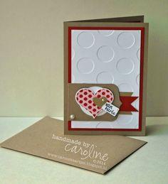 C@ro's kaartjes: Van Harte - Stampin' Up! Valentine blog sketch, van hart, heart cards