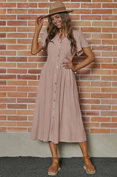 Modest Church Outfits, Modest Summer Outfits, Modest Dresses Casual, Summer Dresses For Women, Cute Dresses, Church Clothes, Comfy Dresses, Spring Maxi Dresses, Summer Church Outfits