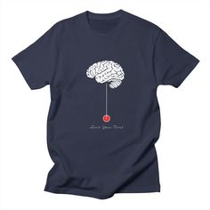 turn-your-mind mens t-shirt in navy