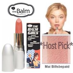 "The Balm Girls Lipstick - Mai Billsbepaid HP The Balm Girls Lipstick in Mai Billsbepaid (velvety pink toned nude color). It'll give you a flattering nude pink on your lips, they'll be ""your lips but better!!"" BNIB. Never used or swatched. 100% Authentic. Price Firm. No Trades, No PP. The Balm Makeup Lipstick"
