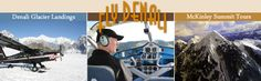Talkeetna, AK Flightseeing with Glacier Landings