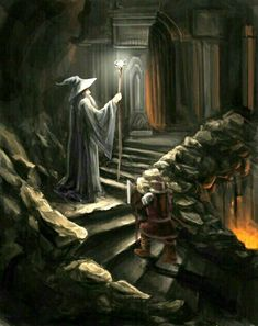 m Wizard Robes Hat Staff hilvl underdark temple magma stairs story Jrr Tolkien, Tolkien Books, Gandalf, Legolas, Fellowship Of The Ring, Lord Of The Rings, Mines Of Moria, O Hobbit, Middle Earth