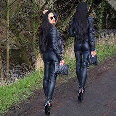 I see you...  #leather #ootd #picoftheday #allblackeverything #style  #lategram #nightnight  by klaudiabadura
