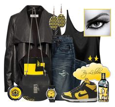 """""""Explosive!"""" by li-lilou ❤ liked on Polyvore featuring HIDE, Canvas by Lands' End, Alexis Bittar, Moschino, NIKE, Chloé, Puma, Sugarpill and L'Oréal Paris"""
