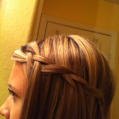 Waterfall braid;) my favorite easy thing to do with my hair when I'm lazy!