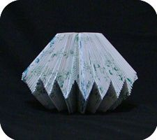 Zigzag folded book tutorial.