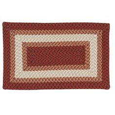 Cayman Isle Braided Reversible Indoor Outdoor Rug, Red