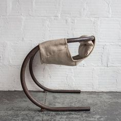 This hammock chair by Byron Botker includes a rocking base and a padded, fabric sling. Metal Design, Design Industrial, Industrial Furniture, Cool Furniture, Modern Furniture, Furniture Design, Furniture Dolly, Chair Parts, Hammock Chair