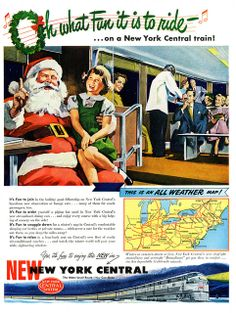 Santa Takes The New York Central