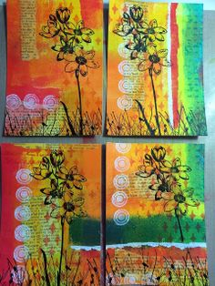 PaperArtsy: GD: Ellen Vargo #2 Abstract Cards