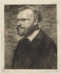 Edouard Manet, Bust-Length Portrait by   Edgar Degas, Etching, drypoint, and aquatint, 1864-65.