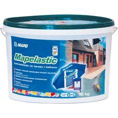 Dvousložková pružná cementová hydroizolační stěrka MAPELASTIC/A+B, 16 kg | Stavebniny DEK - Vše pro Váš dům Coffee Cans, Cement, Camping, Deco, Drinks, Campsite, Drinking, Beverages, Decor