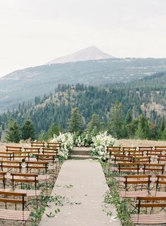 Wedding Venues mountain wedding - From the mountains, to the prairies, to the oceans white with foam.you'll be singing the praises of an outdoor ceremony as soon as you see these stunning examples! Wedding Ceremony Ideas, Wedding Themes, Wedding Tips, Fall Wedding, Wedding Events, Wedding Planning, Dream Wedding, Wedding Decorations, Chic Wedding