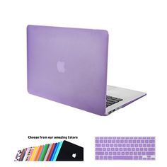 iNeseon Air 13 Case,2 in 1 [Frosted Series]Ultra Slim Rubberized Hard Case Cover and Keyboard Cover for Apple MacBook Air 13/13.3 Inch [Model:A1466 and A1369](Purple) iNeseon http://www.amazon.com/dp/B00U7M7V30/ref=cm_sw_r_pi_dp_BJYWvb0VB3ADY