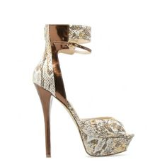 Sexy pair of animal print heels.