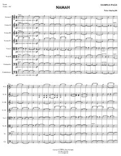 NAMAH for string orchestra and woodblock Orchestra, Middle School, Sheet Music, Composition, Violin, Teaching High Schools, Secondary School, Musical Composition, Writing