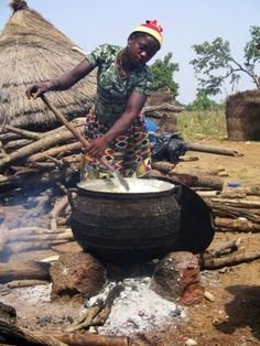 Making Tizet a local staple in Bunbonayili, Ghana. I lived in this village for 8 months!  This brings back so many memories.  Hope to go back someday!