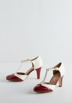 1920s style wedding white shoes : Vivacious Vibes Heel in Crimson $69.99 AT vintagedancer.com