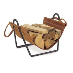 Pilgrim Traditions Indoor Firewood Rack with Carrier Combination log carriers and firewood racks make an ideal pair for storage of firewood at the hearth. The Traditions Indoor Firewood Rack with Ca