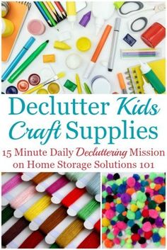 Here is how to declutter kids' craft supplies and equipment in your home, so your kids (and you) can enjoy crafting without a mess {a mission on Home Storage Solutions Kids Craft Storage, Craft Storage Furniture, Craft Storage Containers, Craft Storage Solutions, Arts And Crafts Storage, Kids Craft Supplies, Arts And Crafts Supplies, Hobbies And Crafts, Crafts For Kids