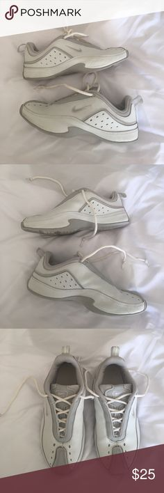 Nike Air Santiago Cheer Shoes Pre-loved Nike cheer shoes. Some slight wear, but still in great shape and perfect for cheering or tumbling. Comes in original box. Feel free to leave any questions in the comments below! Nike Shoes Athletic Shoes