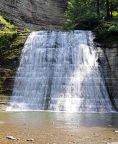Stony Brook State Park, Dansville, NY. The main falls at Stony Brook.