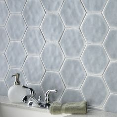 Change up your bathroom design with our Palm Hex 6x7 Glazed Porcelain Tile in Gray. These floor and wall tiles capture the simplicity of mid-century modern design with their appealing hex shape. It retails starting at $14.99 SQ FT.