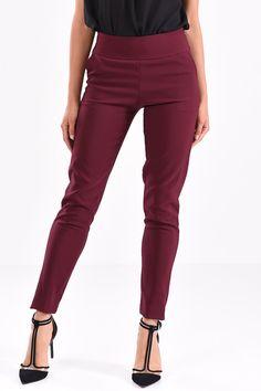 Παντελόνι σε ίσια γραμμή μπορντό Pants, Fashion, Moda, Trousers, Fashion Styles, Women Pants, Women's Pants, Fashion Illustrations, Trousers Women