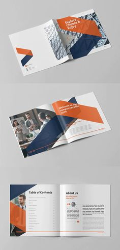 Company Profile Square Template - 24 pages INDD Company Profile Design Templates, Janitorial, Print Templates, Brochure Template, Booklet, Division, Brand Identity, Spiderman, Law