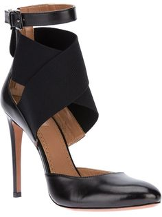 ALAIA cross strap pump-perfect transition shoes from summer to fall!