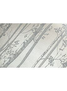 View product Graham & Brown Linden Pearl & Grey Branch Shimmer Wallpaper