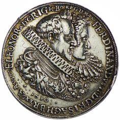 Ferdinand II. 1592/1619 - 1637 AR Medaille 1630 Silber auf die Huldigung der Stadt Wien. =SELTEN=, Signatur A.-P.