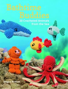 MARTINGALE Bathtime Buddies by Megan Kreiner - REVIEW - and yes these cute crocheted toys can be taken  safely in the tub with the kiddos!