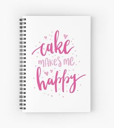Cake Makes Me Happy. by toastedpixels #cake #happy #cute #journal #pink #love #hearts