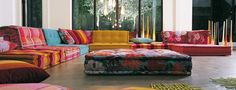 Mah Jong Sofa by Hans Hopfer for RocheBobois kinda cool Floor Couch, Floor Cushions, Cushions Ikea, Sofa Cushions, Sofa Bed, Mah Jong Sofa, Elegant Living Room, Modern Living, Modern Sofa