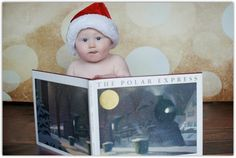 Baby at Christmas time picture. 9 months!