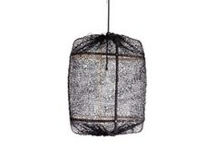 AY ILLUMINATE lampada a sospensione Z5 BLACK (Sisal net black - Struttura in bamboo nero e tessuto)