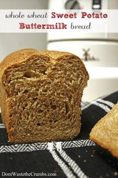Whole Wheat Sweet Potato Buttermilk Bread (for when I get a grain mill ...