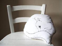 white cat  nap decorative pillow cat cushion gift idea door MosMea, €30.00
