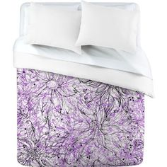 DENY Designs Lisa Argyropoulos Angelica Purple Duvet Cover, Twin by DENY Designs. $154.62. Manufacturing: 6 color dye process, custom printed for every order. Color - top: full color, color - bottom: white. Closure: metal snaps seen in snap closure view. Metal snaps for closure. Fabric: ultra soft, 100-percent polyester microfiber. Turn your basic, boring down comforter into the super stylish focal point of your bedroom with this DENY Designs duvet cover. Custom printed when...