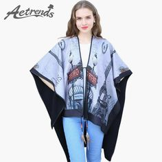 Print Women's Winter Cashmere Poncho Coat with Double Sides $28.97 => Save up to 60% and Free Shipping => Order Now! #fashion #woman #shop #diy www.scarfonline.n...