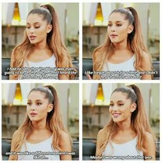 Ari is the best in her interviews.