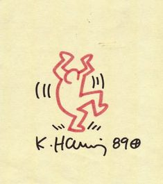 """Keith Haring - This should be titled """"Dance like nobody is watching"""""""