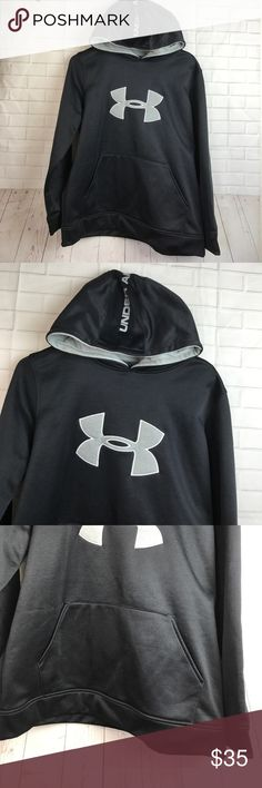 Under armor hoodie pullover Youth size YXL Pre-own . In great used condition. Smoke free pet free home 🏡  I ship same day or next day ✅ No models, No pp , No trade ❌ . Offers welcome ! Under Armour Shirts & Tops Sweatshirts & Hoodies