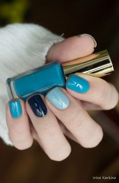L`oreal Color Riche 611 Sky Fits Heaven & Golden Rose Paris 132 & China Glaze One Track Mind